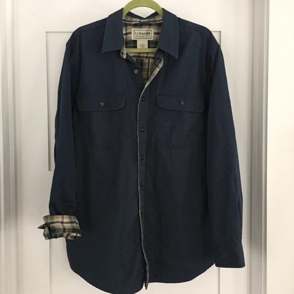 cff8aeb590407 L.L. Bean Other - Sz. L Men s L.L.Bean flannel lined shirt jacket